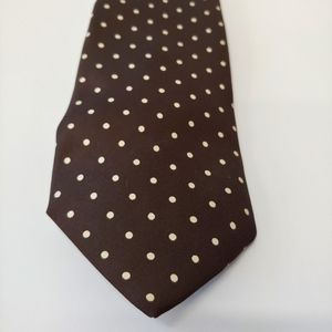 Vintage Harrods by John Comfort Brown Silk Tie